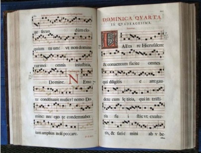 ILLUS 14 Double page spread from 1598 Gradual