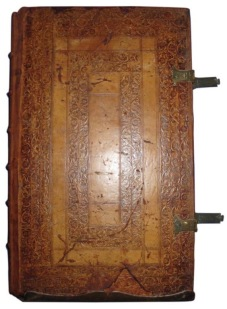 ILLUS 19 Front endboard 1598 Gradual, showing brass claps