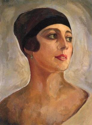 Vera de Bosset, aka Mme Sudeikina, 1920 (Portrait by her husband Sergeir Sudeikine)